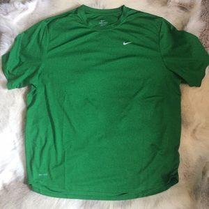 Nike Dri-Fit Green swoosh teeshirt workout XL gym